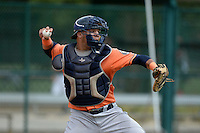 Houston Astros catcher Alfredo Gonzalez (59) during practice before an Instructional League game against the Atlanta Braves on September 22, 2014 at the ESPN Wide World of Sports Complex in Kissimmee, Florida.  (Mike Janes/Four Seam Images)
