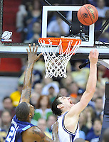 Garrett Butcher of the Bulldogs shoots a reverse-layup against Monarchs' Frank Hassell. Butler defeated Old Dominion 60-58 during the NCAA tournament at the Verizon Center in Washington, D.C. on Thursday, March 17, 2011. Alan P. Santos/DC Sports Box