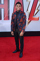 "Chosen Jacobs<br /> at the ""Shazam!"" Premiere, TCL Chinese Theater, Hollywood, CA 03-28-19<br /> David Edwards/DailyCeleb.com 818-249-4998"