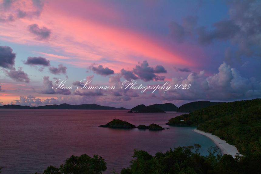 Trunk Bay Sunset.Virgin Islands National Park