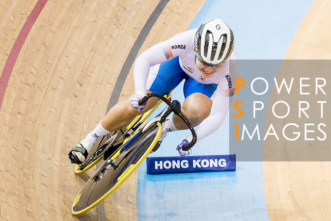 Kim Won Gyeong of the Korea team in the Women's Sprint - Qualifying as part of the 2017 UCI Track Cycling World Championships on 13 April 2017, in Hong Kong Velodrome, Hong Kong, China. Photo by Chris Wong / Power Sport Images