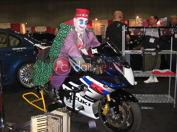Count Smokula on motorcycle<br />