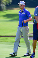 Zach Johnson (USA) after sinking his putt on 1 during round 1 of the World Golf Championships, Mexico, Club De Golf Chapultepec, Mexico City, Mexico. 3/2/2017.<br /> Picture: Golffile | Ken Murray<br /> <br /> <br /> All photo usage must carry mandatory copyright credit (&copy; Golffile | Ken Murray)