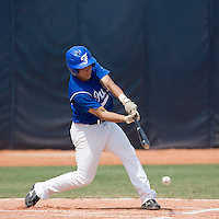 23 August 2007: First base #13 Boris Marche at bat during the France 8-4 victory over Czech Republic in the Good Luck Beijing International baseball tournament (olympic test event) at the Wukesong Baseball Field in Beijing, China.