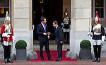 Mcc0026946 . Daily Telegraph..French President Nicolas Sarkozy meeting with Prime Minister David Cameron for an Anglo-French Summit at Lancaster House...London 2 November  2010.