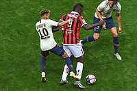 Mario Balotelli, Neymar Jr - Nice vs PSG at the Allianz Riviera in Nice for the soccer Ligue 1 Conforama <br /> 29-09-2018 <br /> Nice vs Paris Saint Germain PSG <br /> Calcio Ligue 1 2018/2019 <br /> Foto Panoramic/insidefoto <br /> ITALY ONLY
