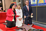 Irina Menzel, Kristen Bell -Star WofF 041 Mayor Eric Garcetti ,  Kristen Bell And Idina Menzel  Honored With Stars On The Hollywood Walk Of Fame on November 19, 2019 in Hollywood, California
