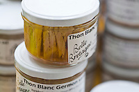 """Europe/France/Bretagne/29/Finistère/ Saint-Guénolé: Conserverie """"Océane alimentaire """" Bocal de Thon blanc"""
