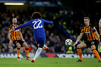 Willian scores Chelsea's opening goal during Chelsea vs Hull City, Emirates FA Cup Football at Stamford Bridge on 16th February 2018