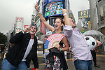United States fans,<br /> July 6, 2015 - Football / Soccer : <br /> United States fans celebrate after the game of FIFA Women's World Cup Canada 2015 Final match <br /> at Shibuya, Tokyo, Japan. (Photo by AFLO SPORT)