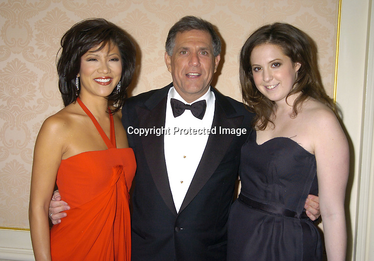 Julie Chen, Leslie Moonves and daughter Sara..at the Museum of The Moving Image Honors Gala honoring Jeffrey Bewkes and Leslie Moonves on May 4, 2005 at The St Regis Hotel. ..Photo by Robin Platzer, Twin Images