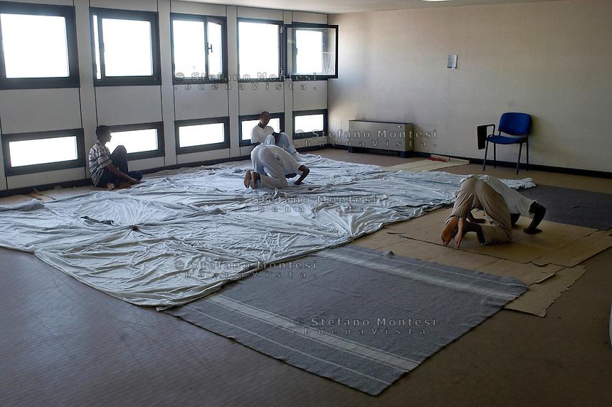 Roma 29 Agosto 2008.Centro accoglienza rifugiati di Castelnuovo di Porto..La moschea.Refugee acceptance centre of Castelnuovo di Porto..The mosque