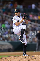 Charlotte Knights relief pitcher Matt Purke (37) in action against the Indianapolis Indians at BB&T BallPark on June 16, 2017 in Charlotte, North Carolina.  The Knights defeated the Indians 12-4.  (Brian Westerholt/Four Seam Images)
