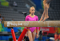 Aug. 7, 2008; Beijing, CHINA; Nastia Liukin (USA) during womens gymnastics training prior to the Olympics at the National Indoor Stadium. Mandatory Credit: Mark J. Rebilas-