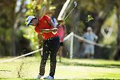 10th February 2018, Lake Karrinyup Country Club, Karrinyup, Australia; ISPS HANDA World Super 6 Perth golf, third round; Rattanon Wannasrichan (THA) plays a shot