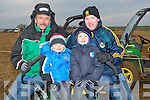DAYOUT: A family day out at the Abbeydorney ploughing competition on Corridon Family Land Abbeydorney on Sunday, L-r: Robert Williamson, Eoin,Cian and Leonard Mangan Tralee.