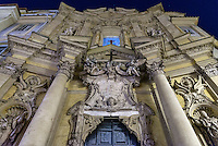Exterior facade at night, Santa Maria Maddalena