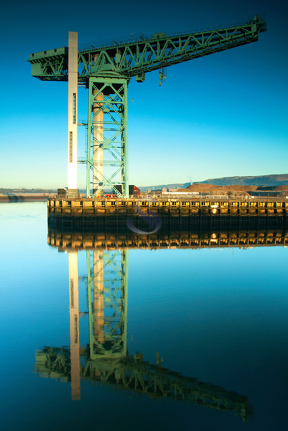 The Titan Crane and the River Clyde, Clydebank, West Dunbartonshire
