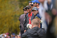 Fans lean out to watch Rickie Fowler's (USA) tee shot on 11 during day 3 of the Valero Texas Open, at the TPC San Antonio Oaks Course, San Antonio, Texas, USA. 4/6/2019.<br /> Picture: Golffile | Ken Murray<br /> <br /> <br /> All photo usage must carry mandatory copyright credit (© Golffile | Ken Murray)