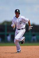 Detroit Tigers infielder Josh Wilson (81) during a Spring Training game against the Miami Marlins on March 25, 2015 at Joker Marchant Stadium in Lakeland, Florida.  Detroit defeated Miami 8-4.  (Mike Janes/Four Seam Images)