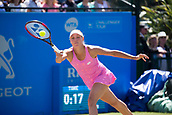 June 15th 2017, Nottingham, England; WTA Aegon Nottingham Open Tennis Tournament day 6;  Yanina Wickmayer of Belgium in action against Johanna Konta of Great Britain