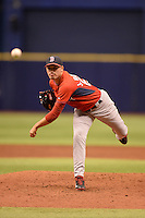 Boston Red Sox pitcher Javier Rodriguez (86) during an Instructional League game against the Tampa Bay Rays on September 25, 2014 at Tropicana Field in St. Petersburg, Florida.  (Mike Janes/Four Seam Images)