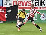 Drogheda Town Mathew Askins Walshestown Dylan Tiernan . Photo:Colin Bell/pressphotos.ie