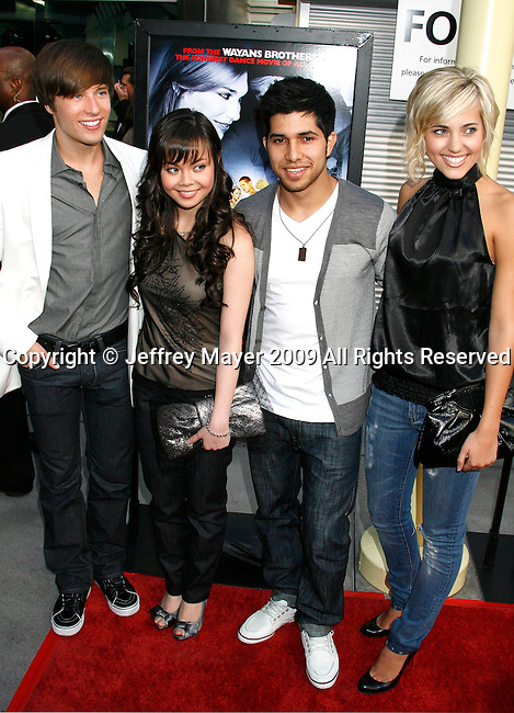 "HOLLYWOOD, CA. - May 20: Paul McGill, Anna Maria Perez De Tagle, Walter Perez and Kherington Payne arrive at the Los Angeles Premiere of ""Dance Flick"" at the ArcLight Theatre on May 20, 2009 in Hollywood, Californnia"