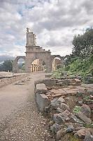 Tindari:  sito archeologico dell'antica citt&agrave; greca Tindarys .<br /> Tindari: archaeological site of the ancient ruins of the  greek Tindarys