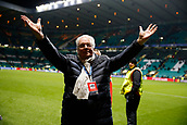 5th December 2017; Glasgow, Scotland;  Roger Vanden Stock president of RSC Anderlecht celebrates his teams win dafter the Champions League Group B match between Celtic FC and Rsc Anderlecht