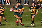 "Frank Halai breaks across field to go in and score untouched for one of his 4 tries. CMRFU Counties Power ""Game of the Week' between Bombay & Pukekohe played at Bombay on Saturday 17th May 2008..Pukekohe led 15 - 0 at halftime & went on to win 42 - 5."