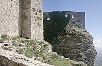 Erice: Il castello di Venere di fattura normanna del XII sec., costruito su una rupe   sulle rovine di un tempio elimo-fenicio-romano.<br /> Erice: Venus castle built by Normans in 12th century upon the ruins of a former elimo-Phoenician-Roman temple
