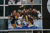 16 December 2006: The banners during Stanford's 2006 NCAA Division I Women's Volleyball Final Four at the Qwest Center in Omaha, NE.