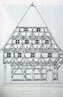 Germany: Fachwerk House. Photo '87. Reference only.