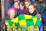 Finuge supporters Margaret Sheehy, Orla Coyne, Siobhan Diggin, Julie Ann Galvin and Olivia Quilter at the Bernard O'Callaghan Memorial Senior Football Championship Final last Sunday in Ballylongford.