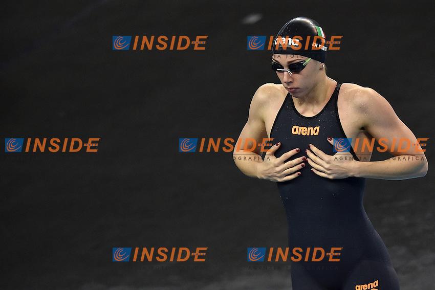 Silvia DI PIETRO Italia women's 50m Freestyle <br /> Doha Qatar 06-12-2014 Hamad Aquatic Centre, 12th FINA World Swimming Championships (25m). Nuoto Campionati mondiali di nuoto in vasca corta.<br /> Photo Andrea Staccioli/Deepbluemedia/Insidefoto