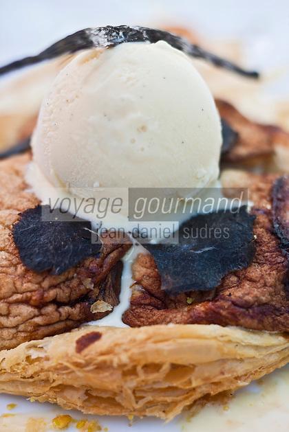 Europe/France/Aquitaine/24/Dordogne/Sorges: Tarte Tatin  aux pommes et à la truffe, Recette de l'Auberge de la Truffe