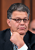 Washington, DC - July 13, 2009 -- United States Senator Al Franken (Democrat of Minnesota) listens to the opening statements as the U.S. Senate Judiciary Committee considers the nomination of Judge Sonia Sotomayor as Associate Justice of the U.S. Supreme Court on Monday, July 13, 2009.  This is Franken's first hearing since being sworn-in less than a week ago..Credit: Ron Sachs / CNP