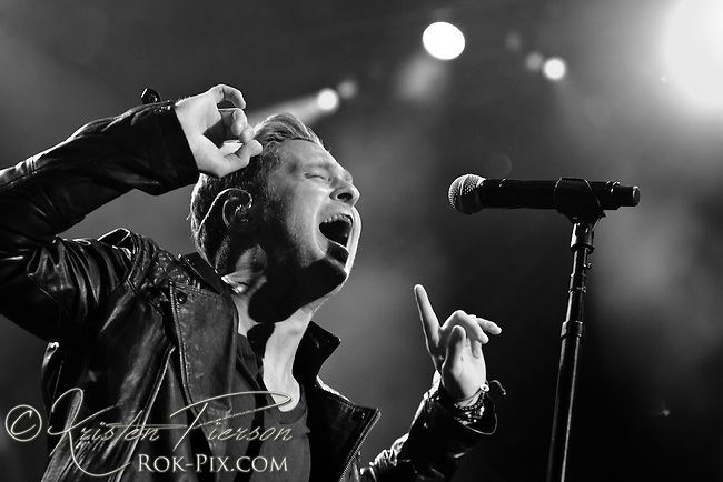 OneRepublic performs at Bank of America Pavilion in Boston, Massachusetts August 1, 2013