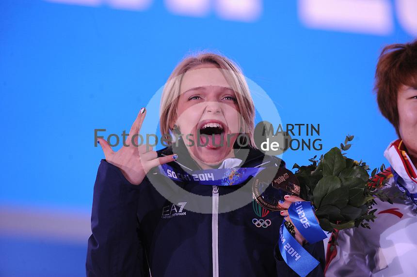 OLYMPICS: SOCHI: Medal Plaza, 15-02-2014, Short Track, Ladies 1500m, Arianna Fontana (ITA), ©photo Martin de Jong
