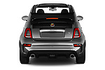 Straight rear view of a 2018 Abarth 595 Turismo Base 2 Door Convertible stock images
