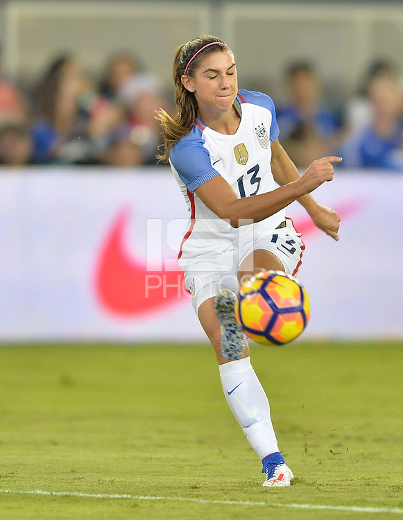 San Jose, CA - November 10, 2016: The U.S. Women's National team go up 6-1 over Romania during an international friendly game at Avaya Stadium.