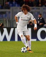 Chelsea s David Luiz in action during the Champions League Group C soccer match between Roma and Chelsea at Rome's Olympic stadium, October 31, 2017.<br /> UPDATE IMAGES PRESS/Riccardo De Luca