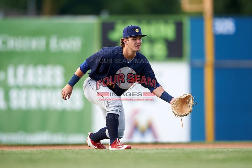State College Spikes second baseman Dylan Tice (31) during a game against the Batavia Muckdogs on June 22, 2016 at Dwyer Stadium in Batavia, New York.  State College defeated Batavia 11-1.  (Mike Janes/Four Seam Images)