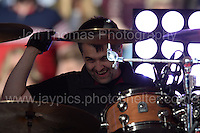 Sean Moore of the Manic Street Preachers performs  during the homecoming celebrations at the Cardiff City stadium on Friday 8th July 2016 for the Euro 2016 Wales International football squad.<br /> <br /> <br /> Jeff Thomas Photography -  www.jaypics.photoshelter.com - <br /> e-mail swansea1001@hotmail.co.uk -<br /> Mob: 07837 386244 -