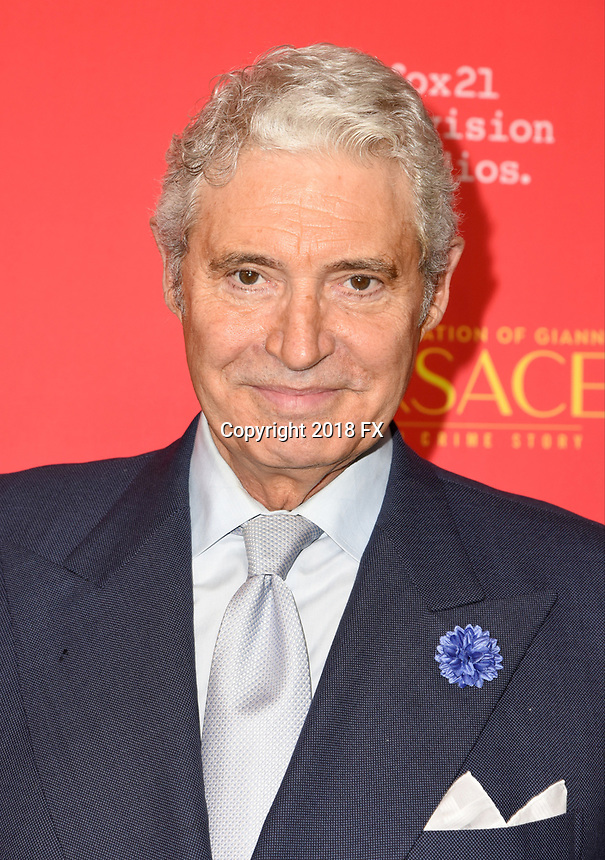"HOLLYWOOD - JANUARY 8: Michael Nouri attends the Red Carpet Premiere Event for FX's ""The Assassination of Gianni Versace: American Crime Story"" at ArcLight Hollywood on January 8, 2018, in Hollywood, California. (Photo by Scott Kirkland/FX/PictureGroup)"