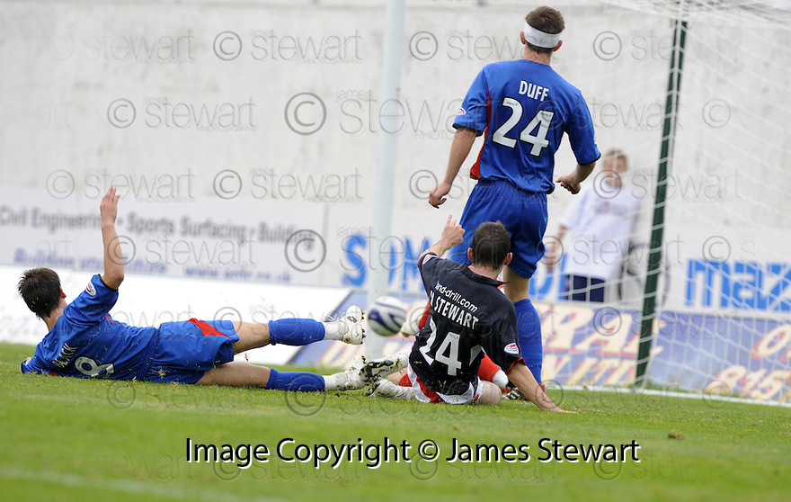 30/08/2008  Copyright Pic: James Stewart.File Name : sct_jspa07_falkirk_v_ict.MARK STEWART SCORES FALKIRK'S GOAL.James Stewart Photo Agency 19 Carronlea Drive, Falkirk. FK2 8DN      Vat Reg No. 607 6932 25.James Stewart Photo Agency 19 Carronlea Drive, Falkirk. FK2 8DN      Vat Reg No. 607 6932 25.Studio      : +44 (0)1324 611191 .Mobile      : +44 (0)7721 416997.E-mail  :  jim@jspa.co.uk.If you require further information then contact Jim Stewart on any of the numbers above........