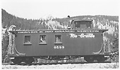Caboose #0589 at Monarch.<br /> D&amp;RGW  Monarch, CO  Taken by Maxwell, John W. - 5/21/1950