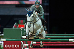 Emanuele Gaudiano of Italy riding Caspar 232 in action at the Gucci Gold Cup during the Longines Hong Kong Masters 2015 at the AsiaWorld Expo on 14 February 2015 in Hong Kong, China. Photo by Xaume Olleros / Power Sport Images