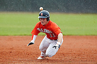 Illinois Fighting Illini infielder Michael Hurwitz #11 slides into third during a game against the Notre Dame Fighting Irish at the Big Ten/Big East Challenge at Walter Fuller Complex on February 17, 2012 in St. Petersburg, Florida.  (Mike Janes/Four Seam Images)